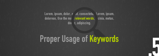 SEO Tips: Proper Usage of Keywords