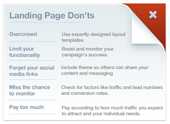 Landing Page Don'ts