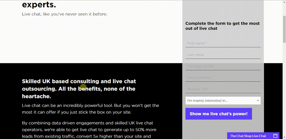 More Paid Traffic Conversions with Landing Pages and Live Chat