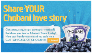 Chobani Yogurt User Generated Content