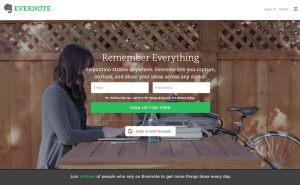Evernote CTA - Landing Page Optimization tip for retailers