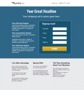 The Basic Components Of Website Landing Pages