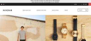 nixon watches great usability for E-commerce sales