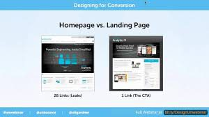 Homepage vs. Landing Page