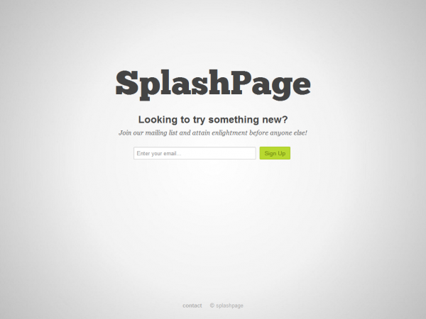 Splash Pages