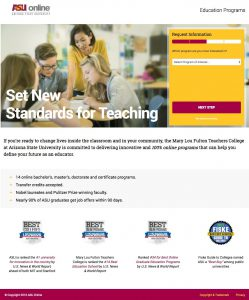 Education Landing Pages
