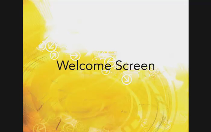 App Welcome Screen