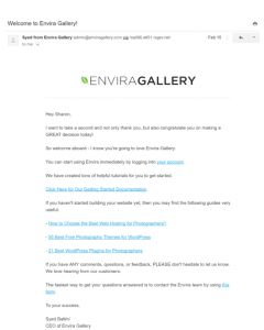Sign Up Email Examples