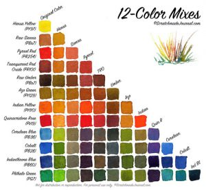 12 color mix