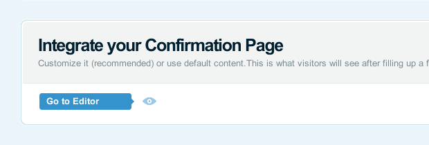 Go to your landing page's dashboard to customize it.