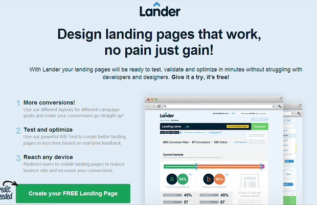 Design Landing Pages: Keep your most important elements above the fold