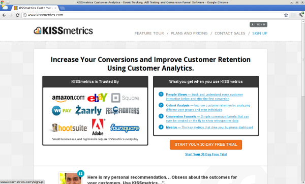 Value Proposition Kissmetrics