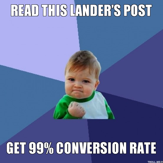 Conversion Rate: Get 99%