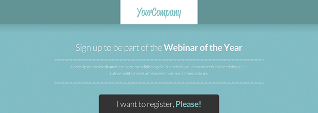 Use Landing Pages to Promote your Webinars