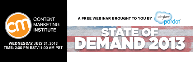 3. State of Demand 2013, Content Marketing Institute