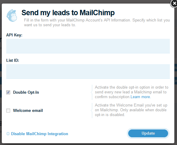 Mailchimp Double Opt In
