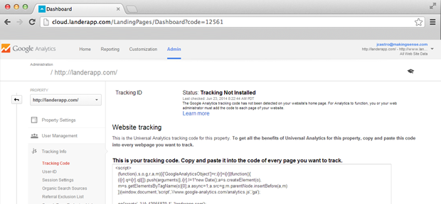 How do I place a Google Tracking Code?