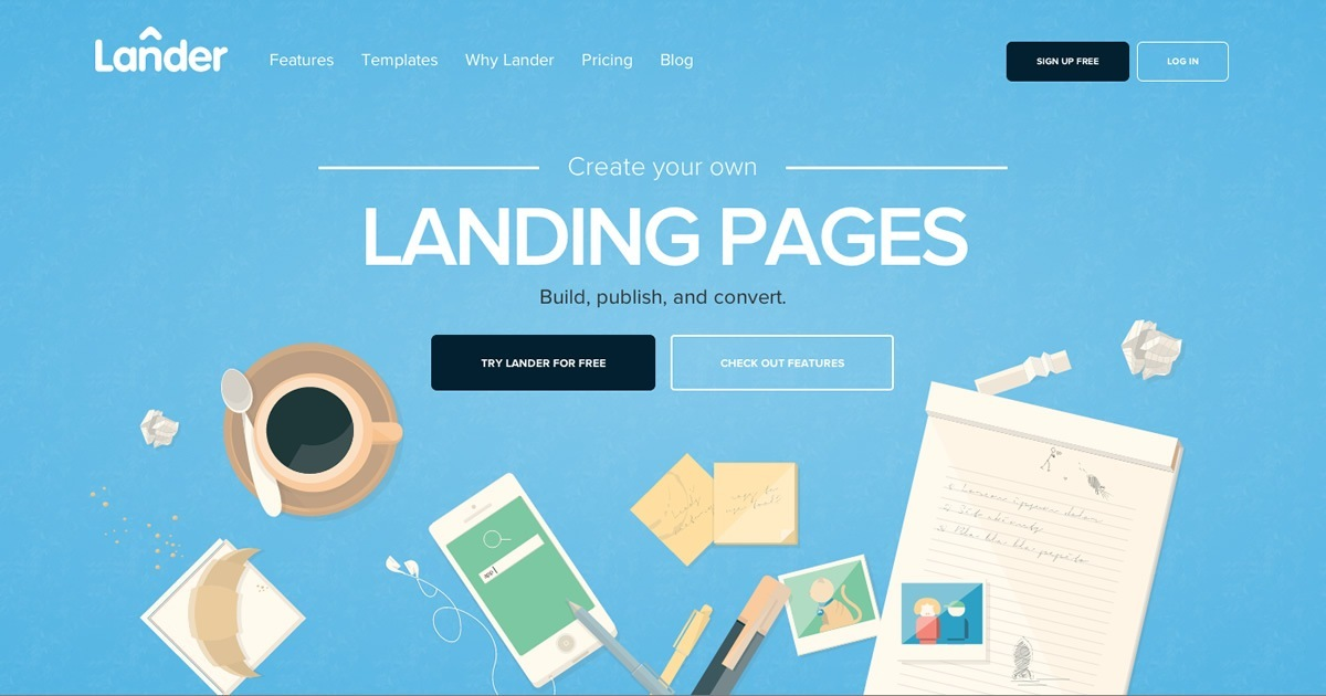 Choose best landing page templates from over 100 designs landerapp maxwellsz